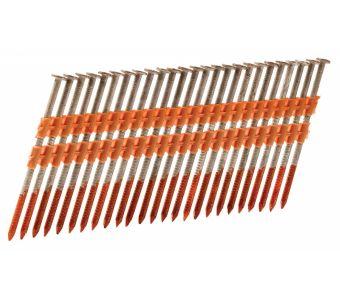 "Hitachi 10309 3-1/4"" x .120 Rg  Galvanized Plastic Strip Framing Nails"