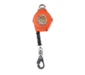20' Warthog Self-Retracting Lifeline with Carabiner, Steel Snap Hook, Snout and Tag Line