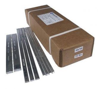 Extruded 50/50 Bar Solder - $265.00 Box / $25 lb. - 1/4 lb or 1 lb. Bars